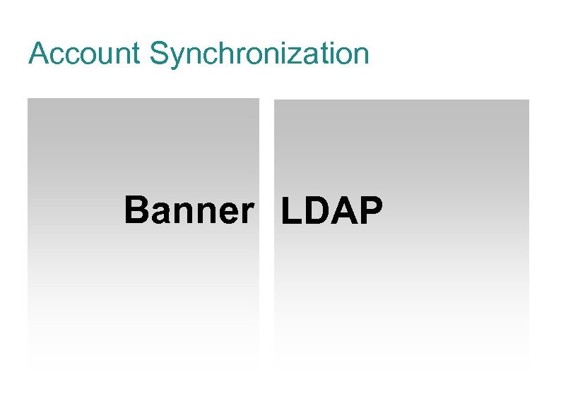 Account Synchronization Banner LDAP