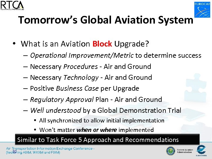 Tomorrow's Global Aviation System • What is an Aviation Block Upgrade? – Operational Improvement/Metric