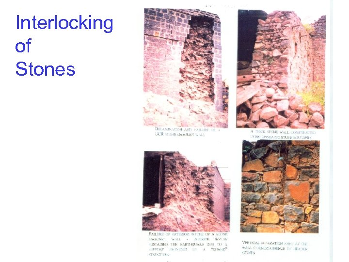 Interlocking of Stones