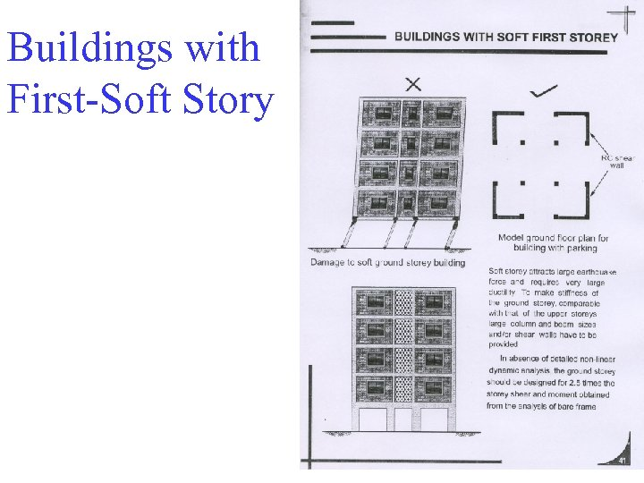 Buildings with First-Soft Story