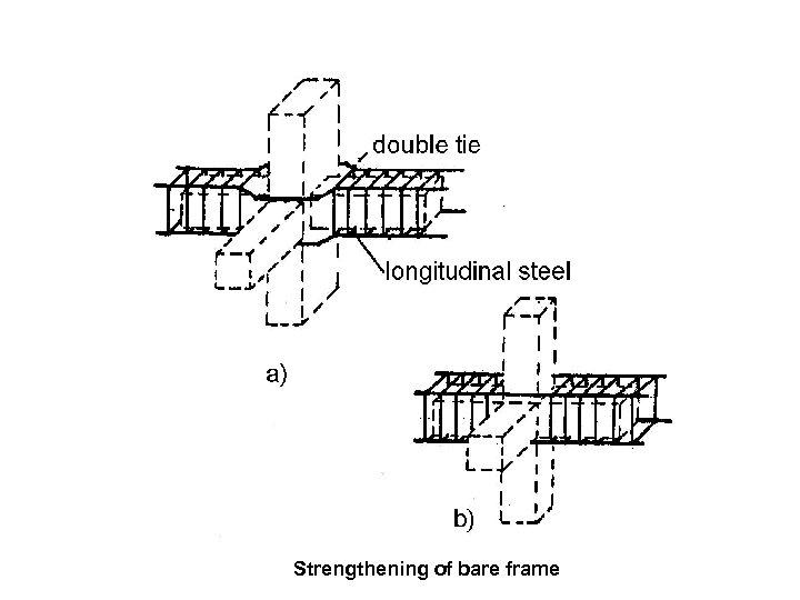 Strengthening of bare frame
