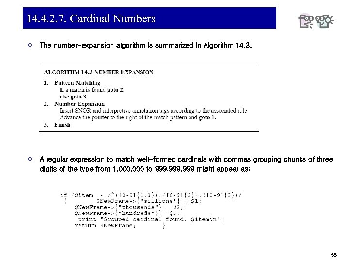 14. 4. 2. 7. Cardinal Numbers v The number-expansion algorithm is summarized in Algorithm