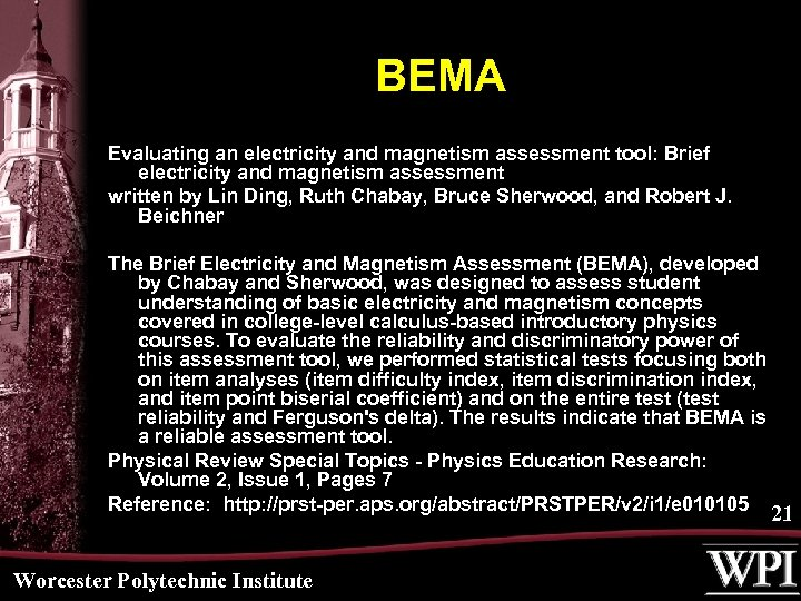 BEMA Evaluating an electricity and magnetism assessment tool: Brief electricity and magnetism assessment written