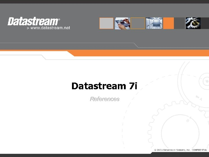 Datastream 7 i References