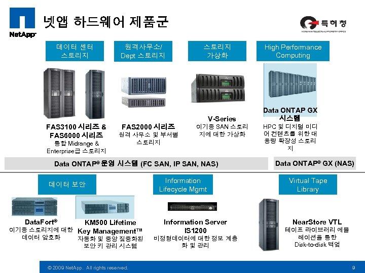 넷앱 하드웨어 제품군 데이터 센터 스토리지 원격사무소/ Dept 스토리지 가상화 V-Series FAS 3100 시리즈