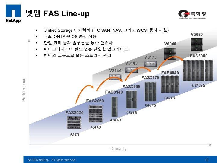 넷앱 FAS Line-up § § § Unified Storage 아키텍처 ( FC SAN, NAS, 그리고