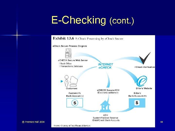 E-Checking (cont. ) © Prentice Hall 2004 44