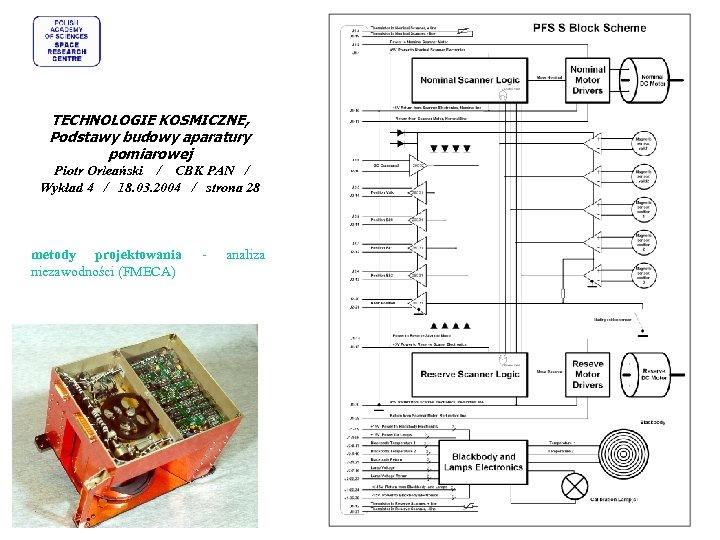 TECHNOLOGIE KOSMICZNE, Podstawy budowy aparatury pomiarowej Piotr Orleański / CBK PAN / Wykład 4