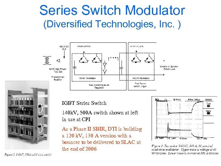 Series Switch Modulator (Diversified Technologies, Inc. ) IGBT Series Switch 140 k. V, 500