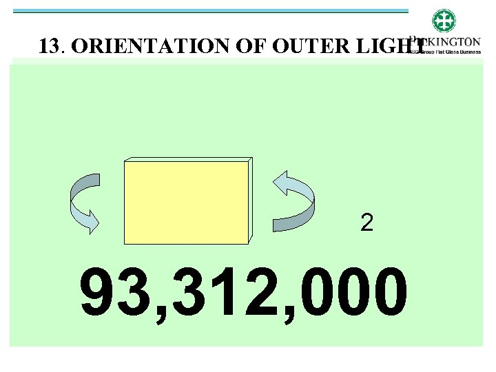 13. ORIENTATION OF OUTER LIGHT 2 93, 312, 000