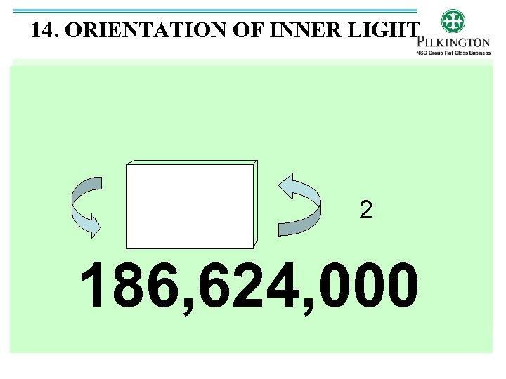 14. ORIENTATION OF INNER LIGHT 2 186, 624, 000