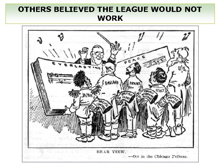 OTHERS BELIEVED THE LEAGUE WOULD NOT WORK