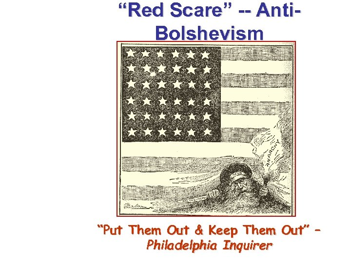 """""""Red Scare"""" -- Anti. Bolshevism """"Put Them Out & Keep Them Out"""" – Philadelphia"""