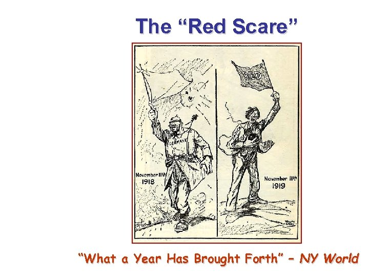 """The """"Red Scare"""" """"What a Year Has Brought Forth"""" – NY World"""