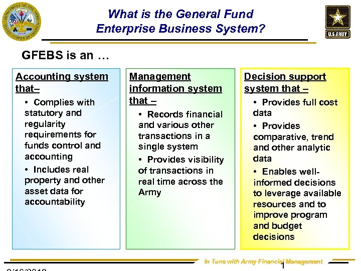 What is the General Fund Enterprise Business System? GFEBS is an … Accounting system