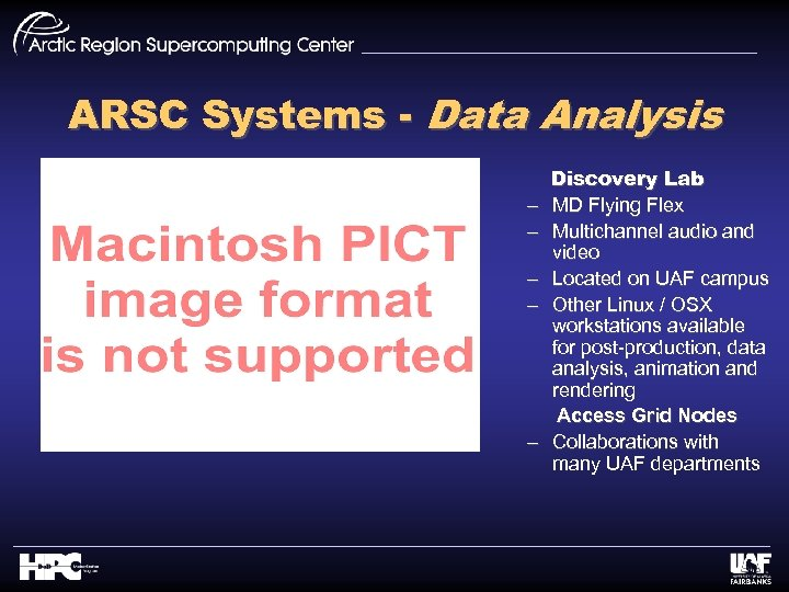 ARSC Systems - Data Analysis – – – Discovery Lab MD Flying Flex Multichannel