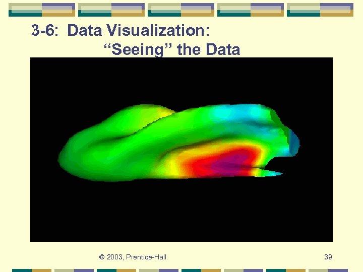 "3 -6: Data Visualization: ""Seeing"" the Data © 2003, Prentice-Hall 39"