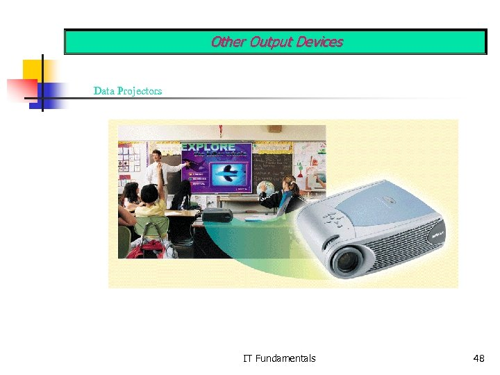 Other Output Devices Data Projectors IT Fundamentals 48