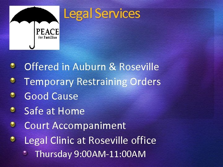 Legal Services Offered in Auburn & Roseville Temporary Restraining Orders Good Cause Safe at