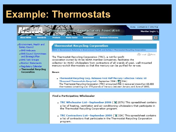 Example: Thermostats