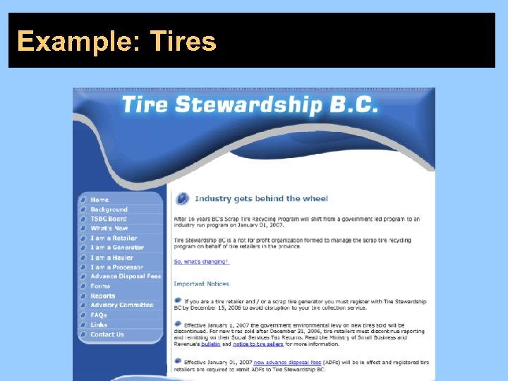 Example: Tires