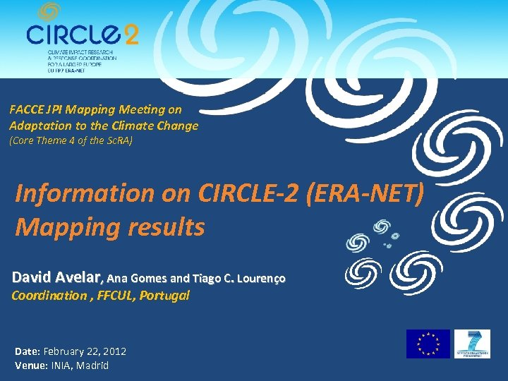 FACCE JPI Mapping Meeting on Adaptation to the Climate Change (Core Theme 4 of