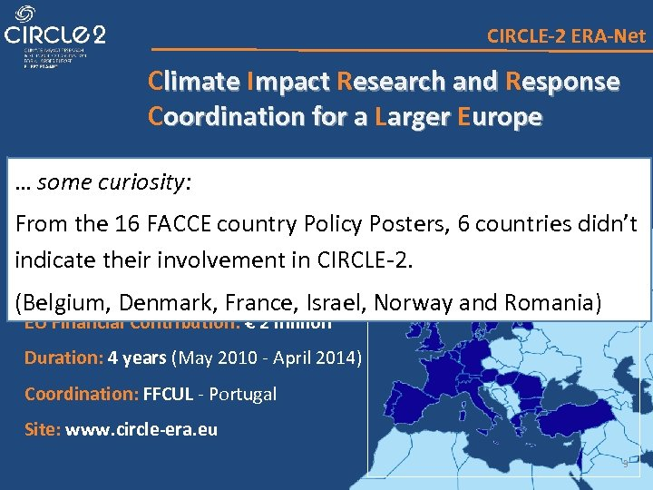 CIRCLE-2 ERA-Net Climate Impact Research and Response Coordination for a Larger European Network of