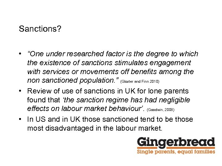 """Sanctions? • """"One under researched factor is the degree to which the existence of"""