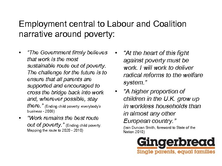 """Employment central to Labour and Coalition narrative around poverty: • """"The Government firmly believes"""