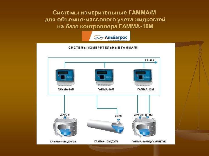 Системы измерительные ГАММА/М для объемно-массового учета жидкостей на базе контроллера ГАММА-10 М