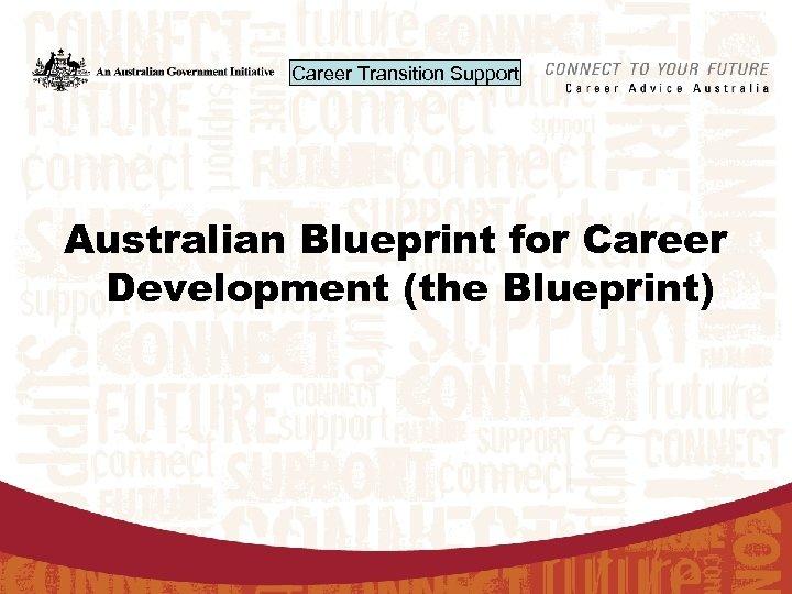 Career Transition Support Australian Blueprint for Career Development (the Blueprint)