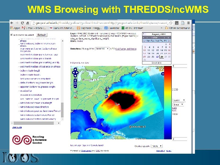 WMS Browsing with THREDDS/nc. WMS