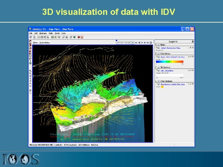 3 D visualization of data with IDV