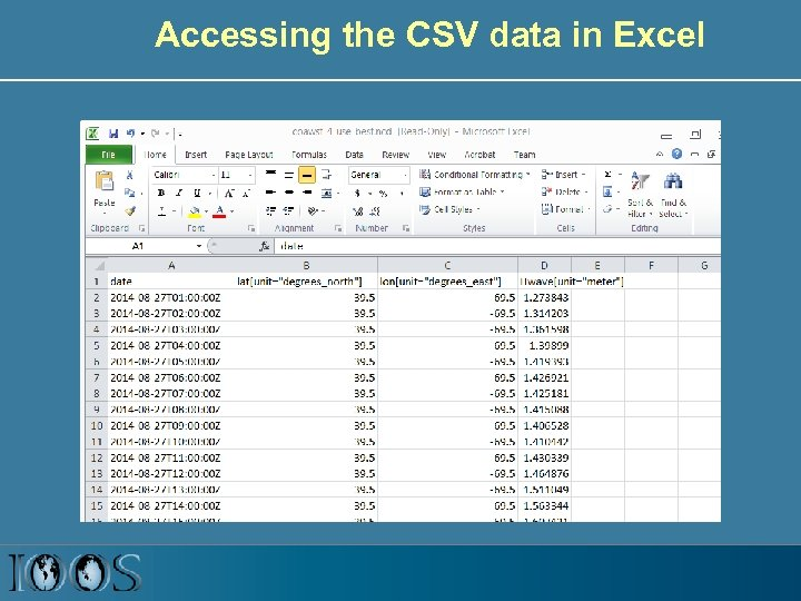 Accessing the CSV data in Excel