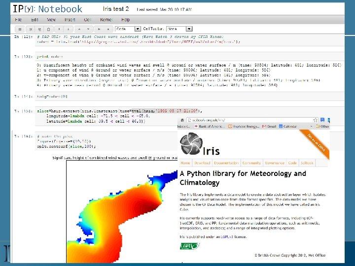 Iris Python tools from the UK Met Office