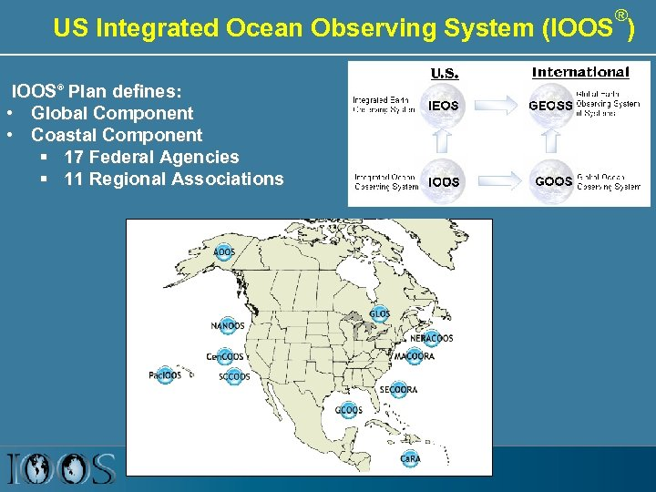 ® US Integrated Ocean Observing System (IOOS ) IOOS® Plan defines: • Global Component