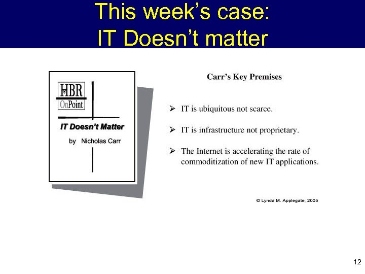 This week's case: IT Doesn't matter 12
