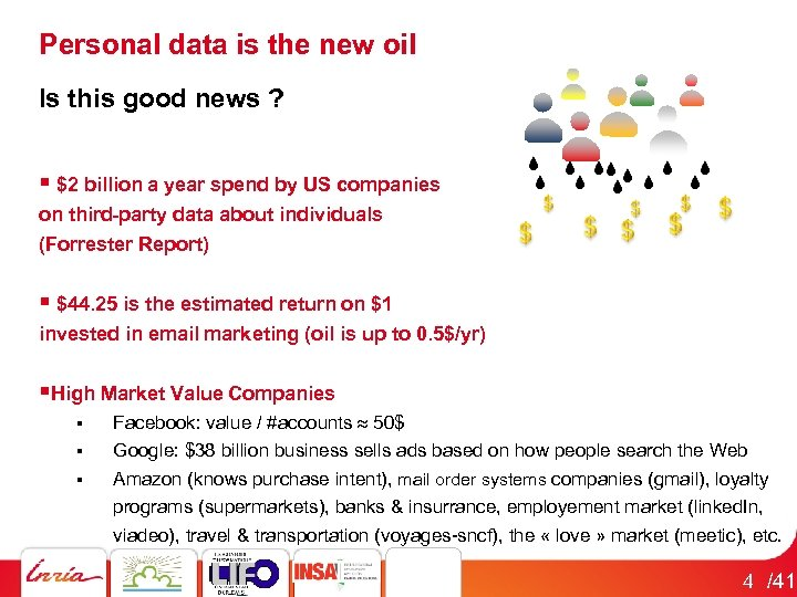 Personal data is the new oil Is this good news ? § $2 billion