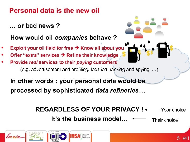 Personal data is the new oil … or bad news ? How would oil