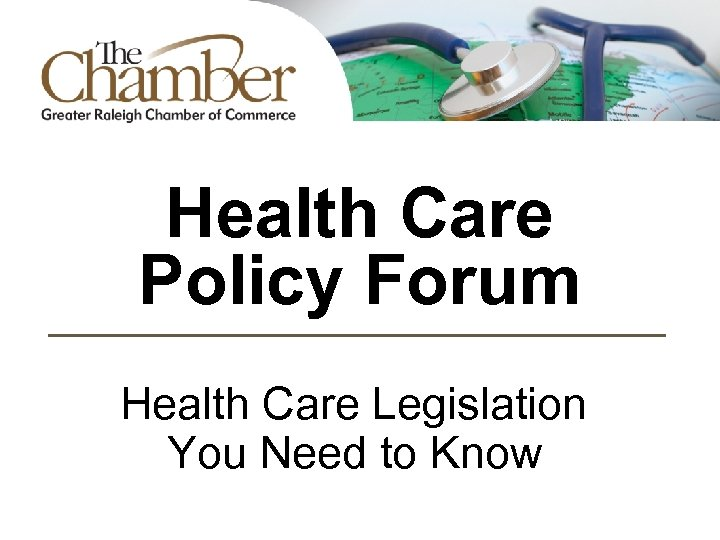 Health Care Policy Forum Health Care Legislation You Need to Know