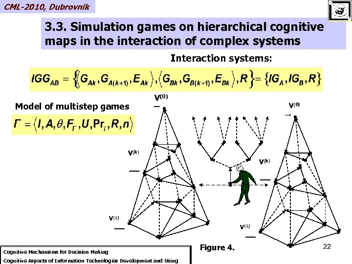 CML-2010, Dubrovnik 3. 3. Simulation games on hierarchical cognitive maps in the interaction of