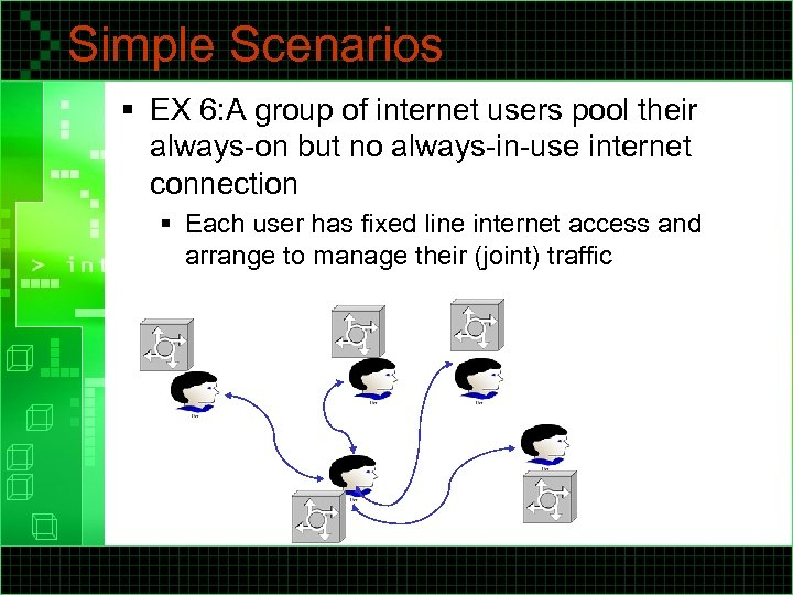 Simple Scenarios § EX 6: A group of internet users pool their always-on but