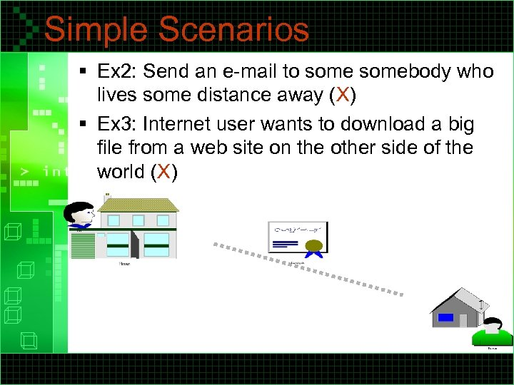 Simple Scenarios § Ex 2: Send an e-mail to somebody who lives some distance