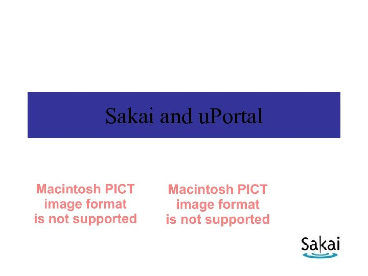 Sakai and u. Portal
