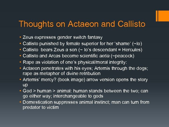 Thoughts on Actaeon and Callisto • • • Zeus expresses gender switch fantasy Callisto
