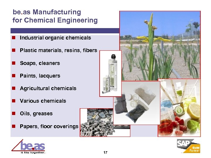be. as Manufacturing for Chemical Engineering n Industrial organic chemicals n Plastic materials, resins,
