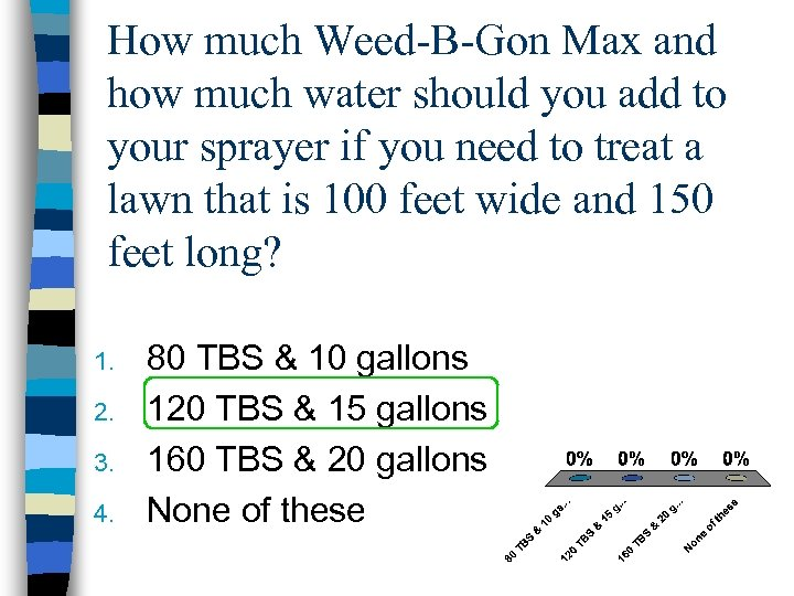 How much Weed-B-Gon Max and how much water should you add to your sprayer