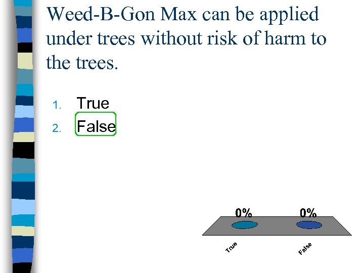 Weed-B-Gon Max can be applied under trees without risk of harm to the trees.
