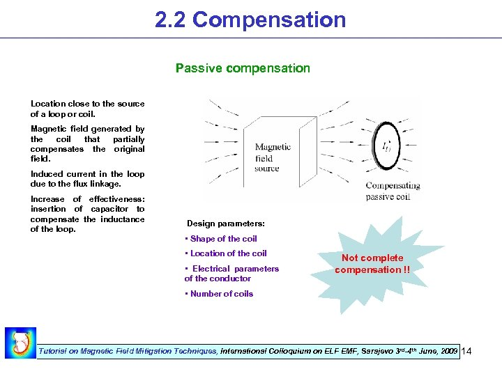 2. 2 Compensation Passive compensation Location close to the source of a loop or