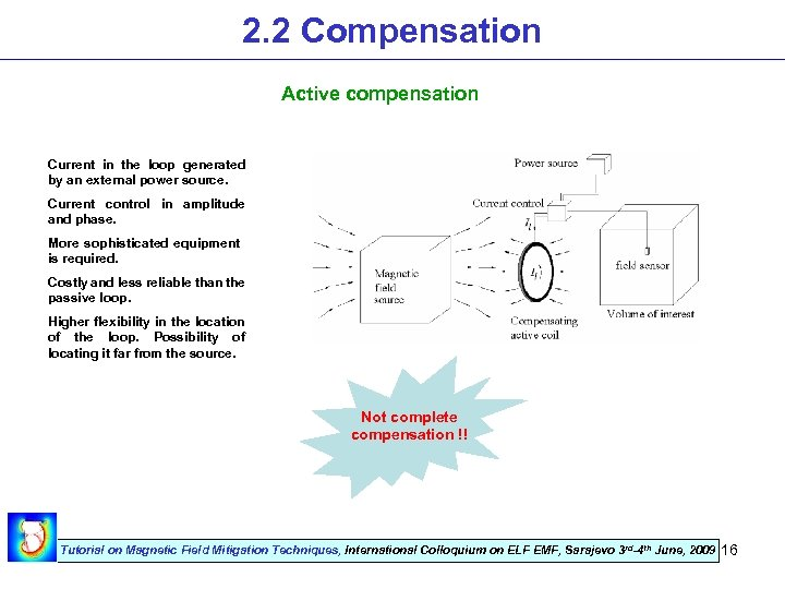 2. 2 Compensation Active compensation Current in the loop generated by an external power